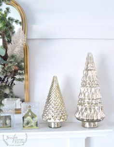 Mercury Gl Blue Hobnail Tree Silver Ribbed Flared Odds And Ends Pinterest