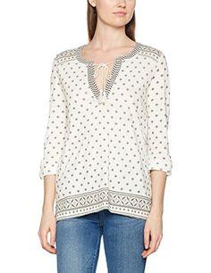 Olsen Women's Long-Sleeved T-Shirt, Weiß (Off White 10051St), 42 (EU). UK tops. Women tops. Women fashion. UK fashion. Women style. Branded tops. Branded women tops. It's an Amazon affiliate link.