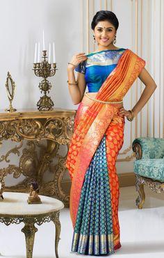 Exclusive Dhola Branded Wedding Silk Saree DBSS4033
