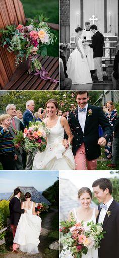 Vibrant Coastal Maine Wedding in Sunset Hues – Style Me Pretty