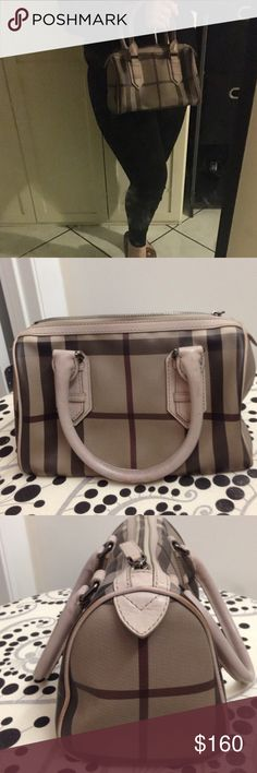 Authentic Burberry bowling bag Good condition-open to offers-19cm by 14cm Burberry Bags