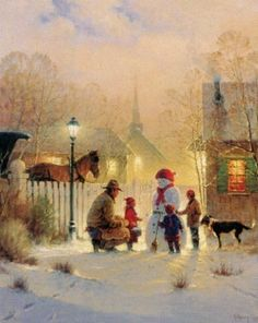 Harvey Art--Daddy's Priorities by G. Harvey, a G. Harvey limited edition available from J Watson Fine Art 661 your source for G. Christmas Scenes, Christmas Pictures, Christmas Art, Illustration Photo, Illustrations, Cowboy Christmas, Country Christmas, Cowboy Art, Winter Art