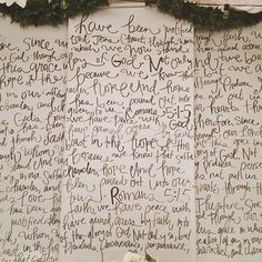 How cool would this be to write like this on our bedroom wall!!