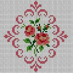 This is a group of floral patterns perfect for embroidery beginners. You get to try out on different embroidery styles for this piece. Cross Stitch Borders, Cross Stitch Rose, Cross Stitch Flowers, Cross Stitch Charts, Cross Stitch Designs, Cross Stitching, Cross Stitch Embroidery, Cross Stitch Patterns, Embroidery Fabric