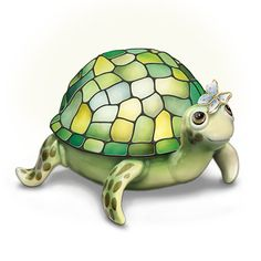 Save $ 10 order now Louis Comfort Tiffany-Style Porcelain Turtle Lamp: Nature&#8
