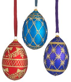 russian imperial egg christmas ornament set