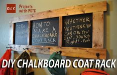 A simple DIY Chalkboard Coat Rack you can make quickly and easily!