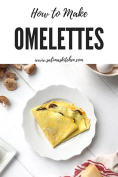 Learn how to make omelettes with this easy step by step recipe that comes out perfect every time and can be filled with any of your favorite ingredients. Gluten Free Recipes For Dinner, Gluten Free Sweets, Sin Gluten, How To Make Omelette, Homemade Bagels, Dairy Free Breakfasts, Omelettes, How To Cook Eggs, Breakfast Recipes
