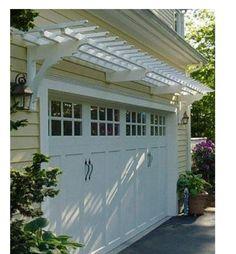 garage door arborpergola over garage door  Google Search  Garden  Pinterest