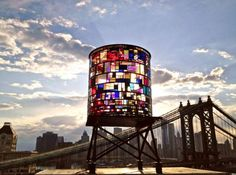 Colorful Watertower by Tom Fruin - wave avenue
