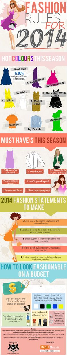 Fashion Rules For 2014   #Fashion #infographic #Trends #LifeStyle