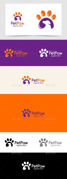 Pet Paw Logo Template PSD, Vector EPS, AI Illustrator