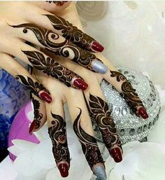 New Finger Henna Mehndi Designs - Kurti Blouse Khafif Mehndi Design, Finger Henna Designs, Arabic Henna Designs, Mehndi Designs 2018, Modern Mehndi Designs, Mehndi Design Pictures, Mehndi Designs For Fingers, Mehndi Designs For Girls, Beautiful Mehndi Design