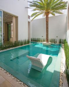 33 Charming Backyard Pool Landscaping Ideas You Will Love - You can give your swimming pool a new and different look simply by adding pool lights. A backyard pool is a lucky thing to have and if you have one, t. Swimming Pool Landscaping, Small Swimming Pools, Small Backyard Pools, Backyard Pool Designs, Small Pools, Swimming Pool Designs, Backyard Ideas, Landscaping Ideas, Lap Pools