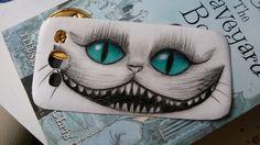 cat, alice in wonderland, phone case