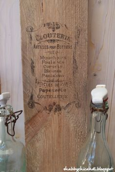 DIY Tuturial Freezer Papier Nr. 3  Motive auf Holz applizieren