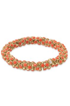 Gold, Coral & Turquoise Beaded Bracelet | Vintage Twist Bracelet | Stella & Dot repin for a chance to win http://www.stelladot.com/denikaclay