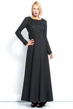 İRONİ ÖNÜ DANTELLİ UZUN SİYAH ELBİSE The Dress, Dresses For Work, Fashion, Moda, Fashion Styles, Vestidos, Fashion Illustrations, Gown, Dress