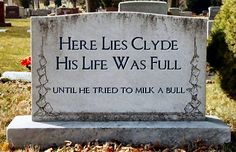 Truths in epitaphs.