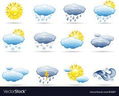 Weather icon set vector image on VectorStock Weather Activities For Kids, Preschool Calendar, Weather Icons, Free Vector Art, Flower Crafts, Preschool Crafts, Icon Set, Art For Kids, Art Projects