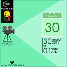#SaveTheDate! #FICCIFrames16 will be on from March 30th - April 1st, 2016.   Follow the link to register for the #conference: http://bit.ly/FICCI_Frames16_registration  #Broadcast #Animation #VisualEffects #DigitalEntertainment
