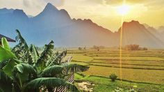 The limestone mountains and rice fields of Vang Vieng Laos captured by @barileetraveling. #agodalens