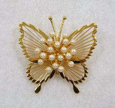 MONET Butterfly Brooch by KatsCache on Etsy
