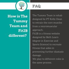 How is The Tummy Team and Fit2B-TummySafe Fitness different?