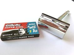 NEW CLASSIC DOUBLE EDGE SHAVING SAFETY RAZOR Style VINTAGE Free BLADE Gillette