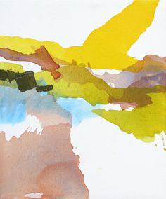 "large original painting, fine art - abstract landscape painting by Lauren Adams - acrylic, 25 x 30"" canvas. $700.00, via Etsy."