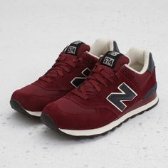 New Balance 574 Burgundy   These would go really well with the new hoody I just bought!