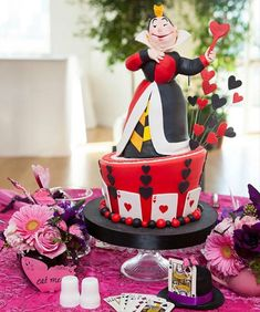 Alice In Wonderland Tea Party, Queen Of Hearts, Cake, Desserts, Tailgate Desserts, Deserts, Kuchen, Postres, Dessert