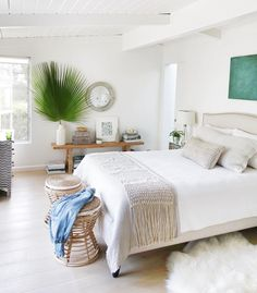 Beachy California bedroom