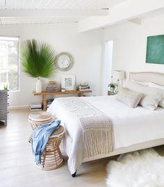 Beachy California bedroom