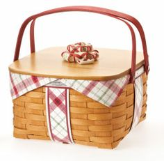 Made in the USA, a lovely basket to carry your holiday goodies to all your parties. A great gift idea too.