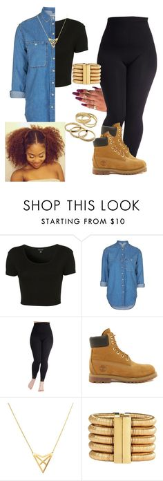"""Wet Dreamz~J.Cole"" by kitty900 ❤ liked on Polyvore featuring Topshop, Timberland, Dutch Basics, Balmain, Kendra Scott and plus size clothing"
