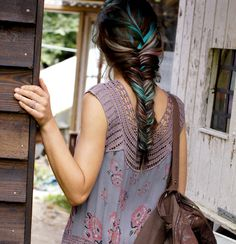 Rainbow Fishtail Braid How To Video: https://www.rainbowhaircolour.com/rainbow-fishtail-braid-free-people/