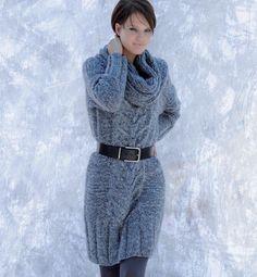 0ee3c8bd88fa Modele robe pull tricot gratuit - Laine et tricot Robe Pull Laine