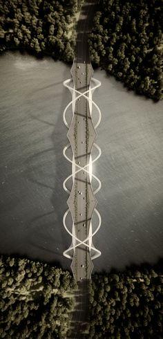 Penda diseña este puente en Beijing inspirándose en los anillos…