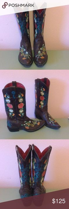 Gorgeous Cowboy Boots Love these boots. I've never treated them. Comes from a pet friendly home. Shoes Heeled Boots