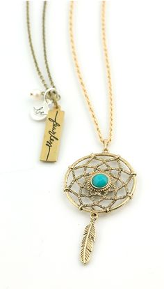 Love this Dream Catcher necklace from Initial Outfitters! $24 www.initialoutfitters.net/karab
