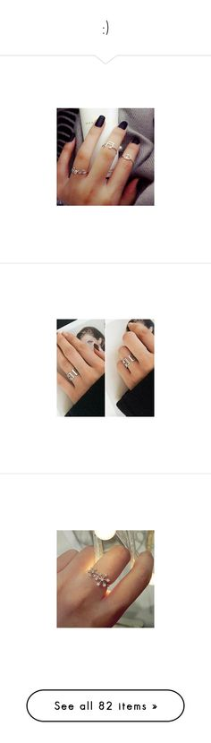 """"""":)"""" by patricia019 ❤ liked on Polyvore featuring jewelry, rings, nails, accessories, peace sign jewelry, peace jewelry, silver rings, peace ring, silver jewellery and rhinestone rings"""
