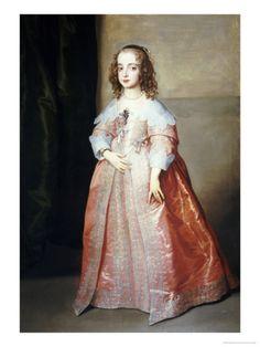 Portrait of Mary Princess Royal (1631-1660)  Sir Anthony Van Dyck