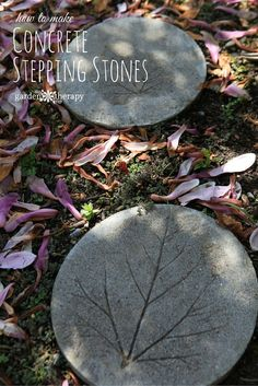 How to Make DIY concrete stepping stones with leaf prints