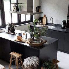 Stunning kitchen by Huizedop. Backsplash of Marrakech Walls by Pure & Original, protected with our matte, highly washable sealer.