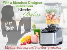 Win a @blendtec blender from @blenderbabes!!