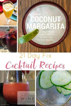 You don't have to skip out on the drinks to be part of the 21 day fix diet plan. Use these 21 Day Fix Cocktail Recipes to stay on track!  via @bludlum