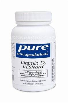 Vitamin D3 VESIsorb - Pure Encapsulations - Self-Assembling Nano-Colloid System For Enhanced Vitamin D Absorption - 60 Count