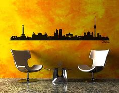 #Wandtattoo Skyline No.SF477 #Berlin Skyline #Skyline #Skylines #Traumstadt #Urbanes #Flair #City #Life #Großstadt #Feeling #Wandgestaltung #Deko #Bilder