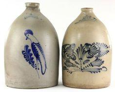 Two Massachusetts Stoneware Jugs : Lot 76